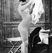 Nude In Stockings, C1880 Art Print