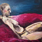 Nude In The Style Of Rembrandt Art Print