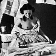 Nude Ironing, C1861 Art Print