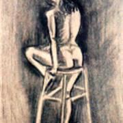 Nude Lady Art Print
