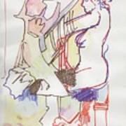Nude Piano Art Print