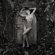 Nude Woman And Doorway Art Print