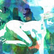 Nude Woman Painting Photographic Print 0031.02 Art Print