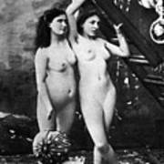 Nudes At Festival, C1900 Art Print