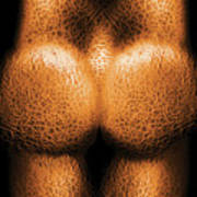 Nudist - Just Cheeky Art Print by Mike Savad