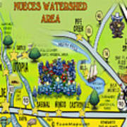 Nueces Watershed Area Art Print