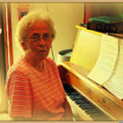 Nursing Home Piano Player Art Print