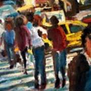 Ny Cross Walk Art Print