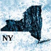 Ny State Map  Art Print
