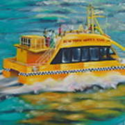 Ny Water Taxi Art Print by Milagros Palmieri