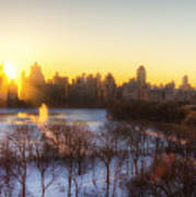 Ny Winter Panaroma Art Print