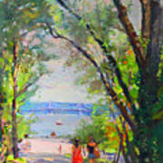 Nyack Park A Beautiful Day For A Walk Art Print by Ylli Haruni