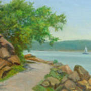 Nyack Trail Along The Hudson Art Print