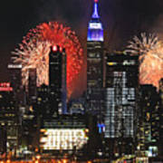 Nyc 4th Of July Fireworks Art Print