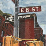 Nyc 8th Street Art Print by Debbie DeWitt