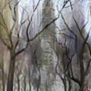 Nyc Central Park 1995 Art Print
