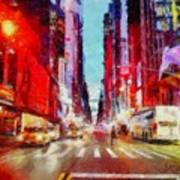 Nyc Fifth Ave Art Print