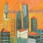 Nyc In Orange Art Print