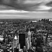 Nyc Manhattan Panorama Art Print by Nina Papiorek