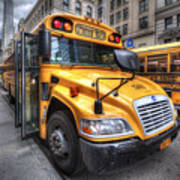 Nyc School Bus Art Print