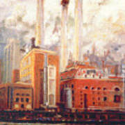 Nyc- View From East River  Art Print