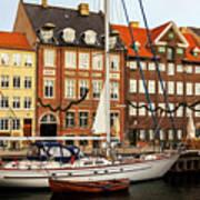 Nyhavn Area Of Copenhagen Art Print