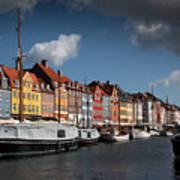Nyhavn In Copenhagen Art Print