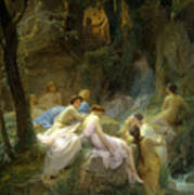Nymphs Listening To The Songs Of Orpheus Art Print