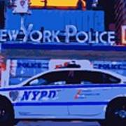 Nypd Color 16 Print by Scott Kelley