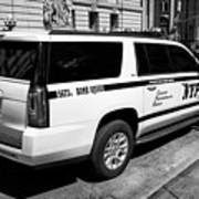 nypd police bomb squad gmc yukon xl vehicle New York City USA Art Print