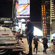 Nypd Times Square Art Print