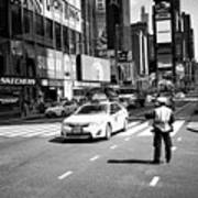 nypd traffic cop on Times Square New York City USA Art Print