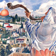 O Jerusalem Print by Barbara Jung