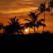 Oahu At Sunset Art Print