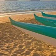 Oahu, Outrigger Canoes Art Print by Tomas del Amo - Printscapes