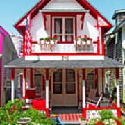 Oak Bluffs Gingerbread Cottages 2 Art Print