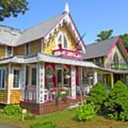 Oak Bluffs Gingerbread Cottages 3 Art Print