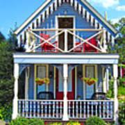 Oak Bluffs Gingerbread Cottages 4 Art Print