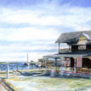 Oak Bluffs Winter Art Print by Paul Gardner