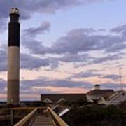 Oak Island Lighthouse Art Print