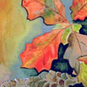 Oak Leaves And Pinecones Art Print
