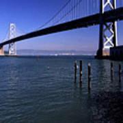 Oakland Bay Bridge 1985 Art Print