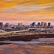 Oakland Sunset Art Print