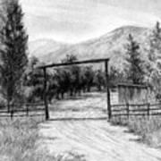 Oakley Ranch Entrance Art Print