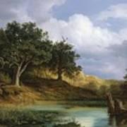 Oaks Beside The Water 1832  Art Print