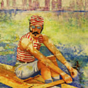 Oarsman Art Print