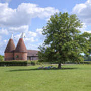 Oast House In Kent - England Art Print