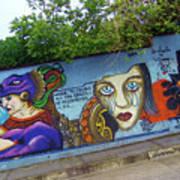 Oaxaca Graffiti Art Print
