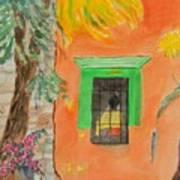 Oaxaca Mexico Church Colors Art Print