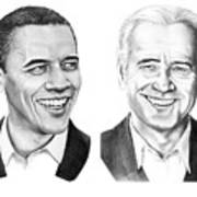 Obama Biden Art Print by Murphy Elliott
